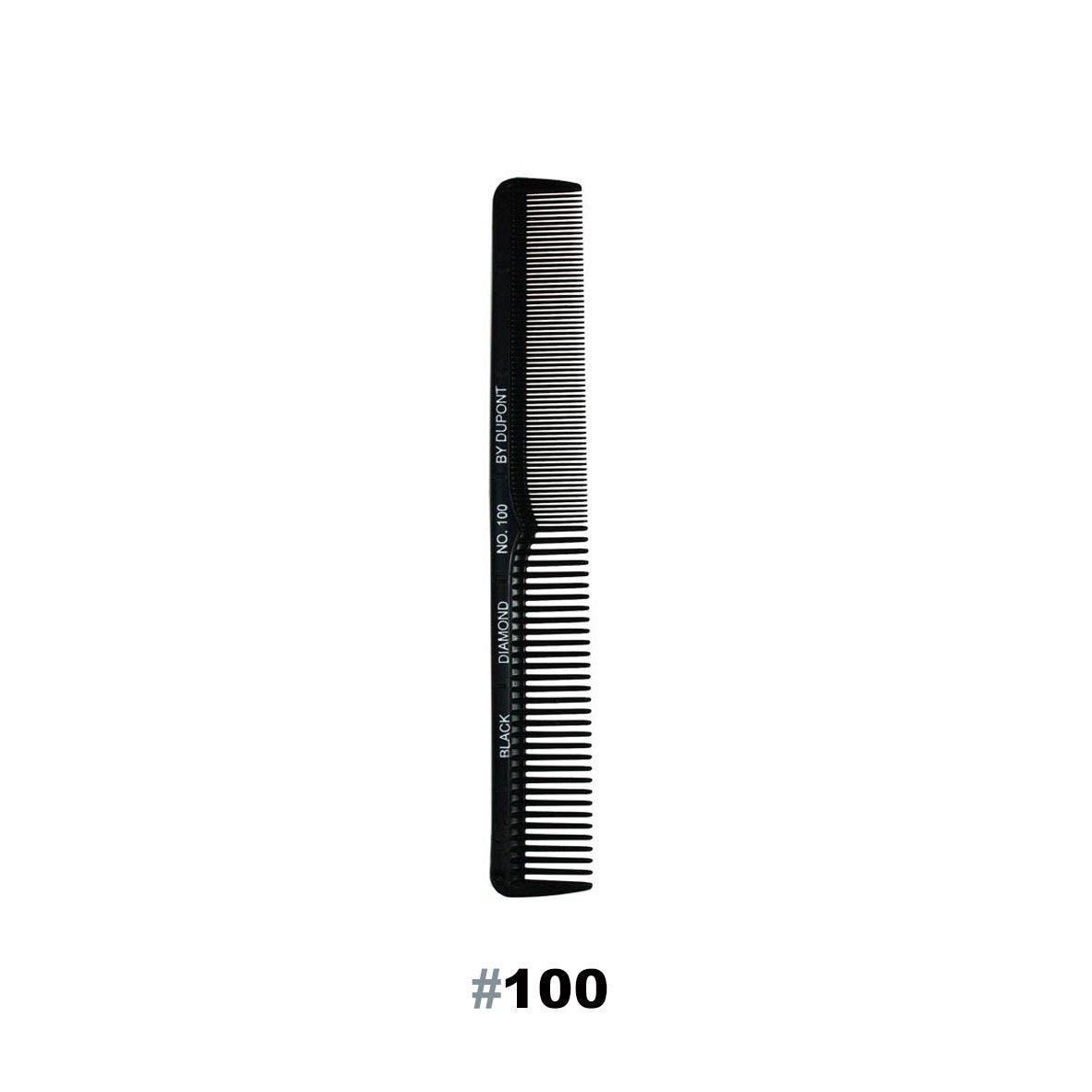"BLACK DIAMOND #100 Cutting 7"" Hair Comb - Made in USA"