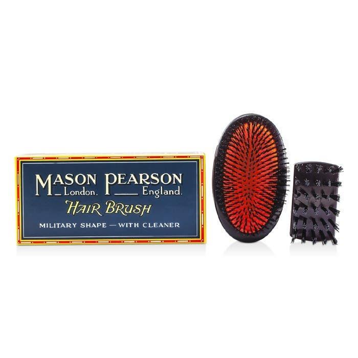 Mason Pearson - Pure Boar Bristle Sensitive Military Hair Brush Dark Ruby - SB2M