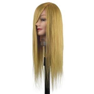 Dateline Professional Mannequin Head Krystal Blonde 20'' 100% Human Hair