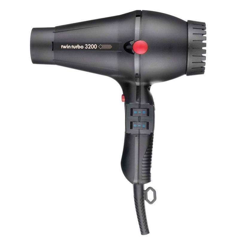 TwinTurbo Hair Dryer 3200 & Nozzles Made in Italy