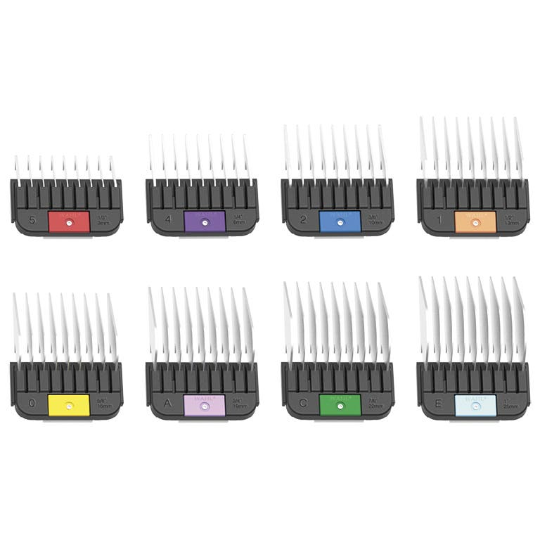 Wahl 1-8 SET Stainless Steel Guides/Metal Combs For KM2/5/10/SS Clippers