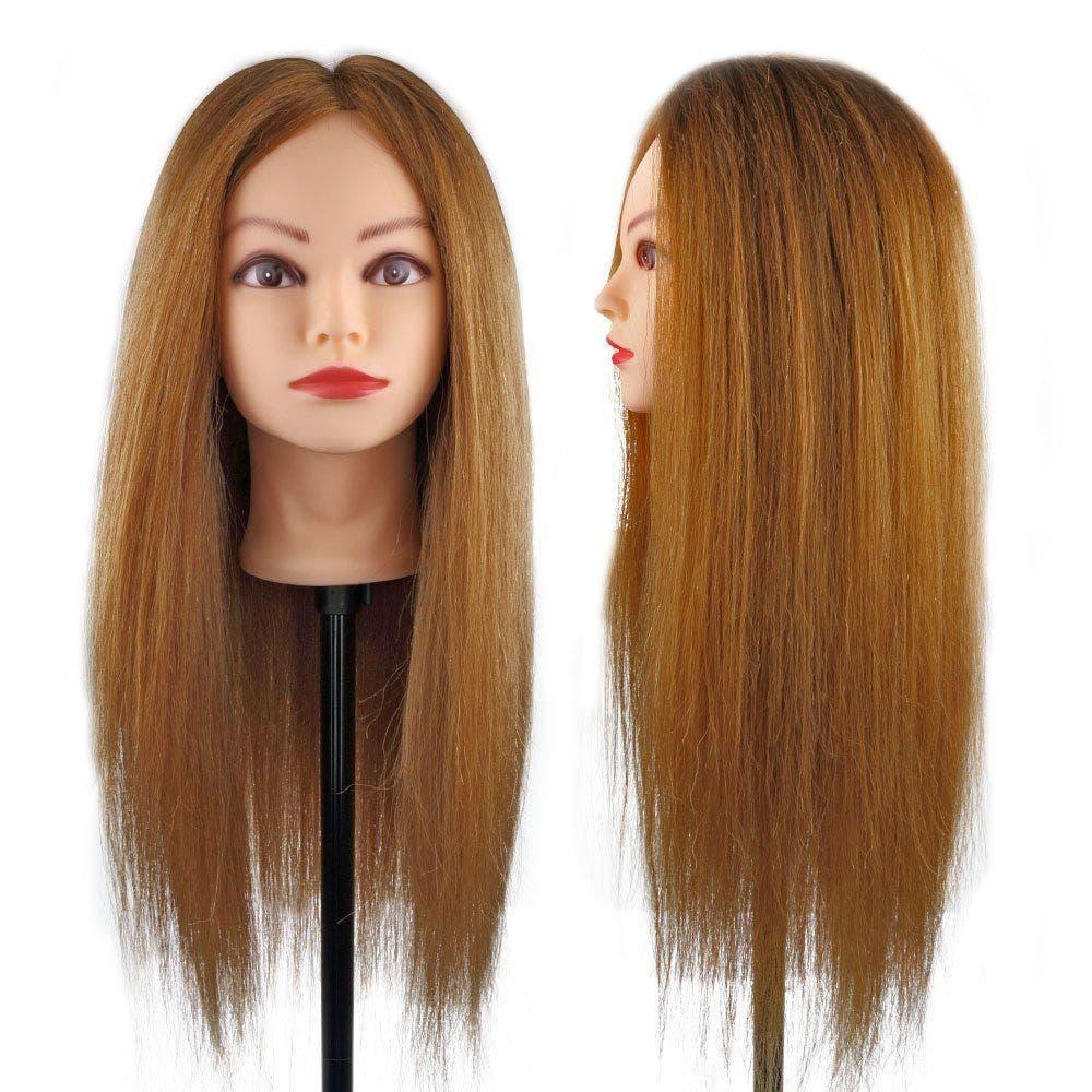 "Mannequin Head Melissa Light Brown Hair 26"" / 65cm"