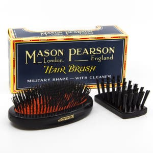 Mason Pearson - Pure Boar Bristle Large Extra Military Hair Brush Dark Ruby - B1M