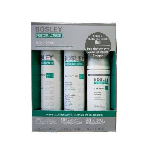 BOSLEY Professional Hair Strength Treatment DEFENSE Normal to fine / NON Colour-treated Hair (GREEN)