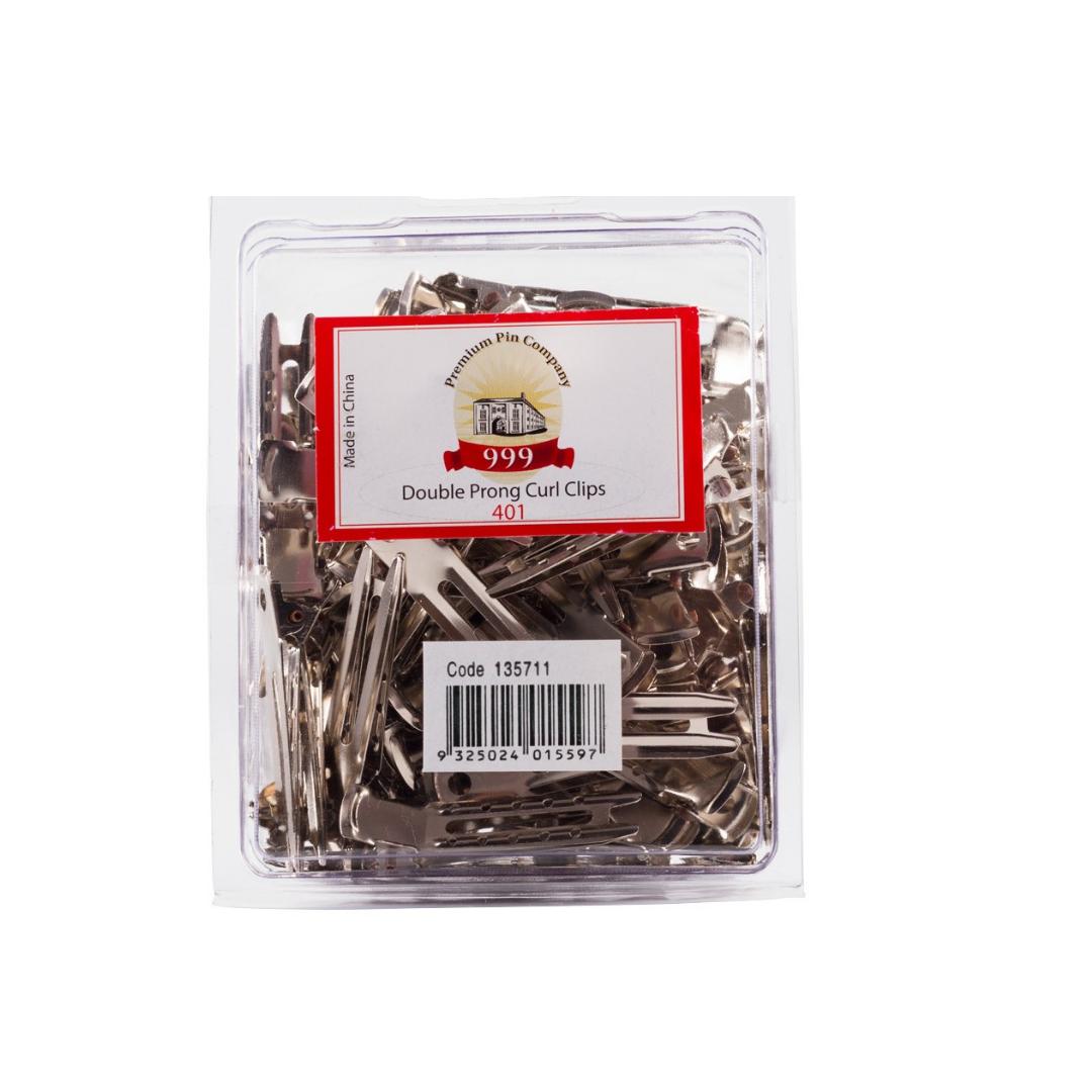 PREMIUM PIN COMPANY 999 Curl Clip Double Prong - 401 (100pc)