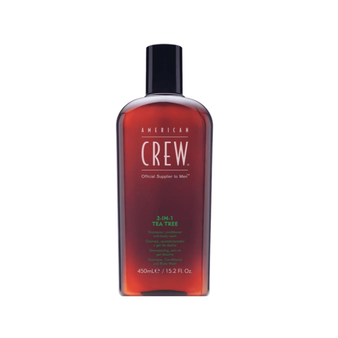 American Crew 3-in-1 Tea Tree Shampoo, Conditioner & Body Wash 450 ml