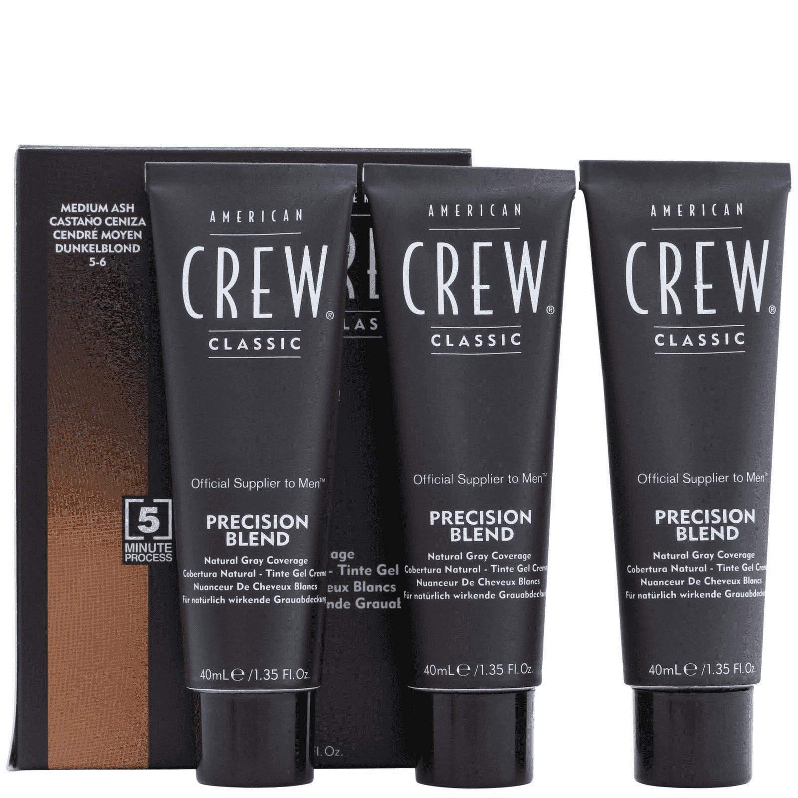American Crew Precision Blend Hair Color 5-6 Medium Ash Hair
