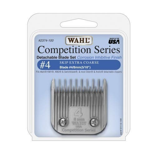 Wahl #4 Detachable KM2 Blade Set Skip Extra Coarse 8mm Competition