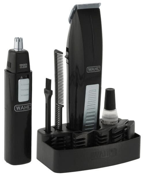 Wahl Mustache & Beard Battery Trimmer Bonus Nose & Ear Trimmer 5537-4012