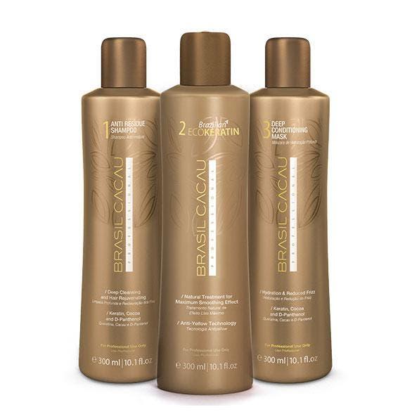 Brasil Cacau Brazilian ECOKeratin Kit Salon Professional Hair Smoother Treatment 300ml