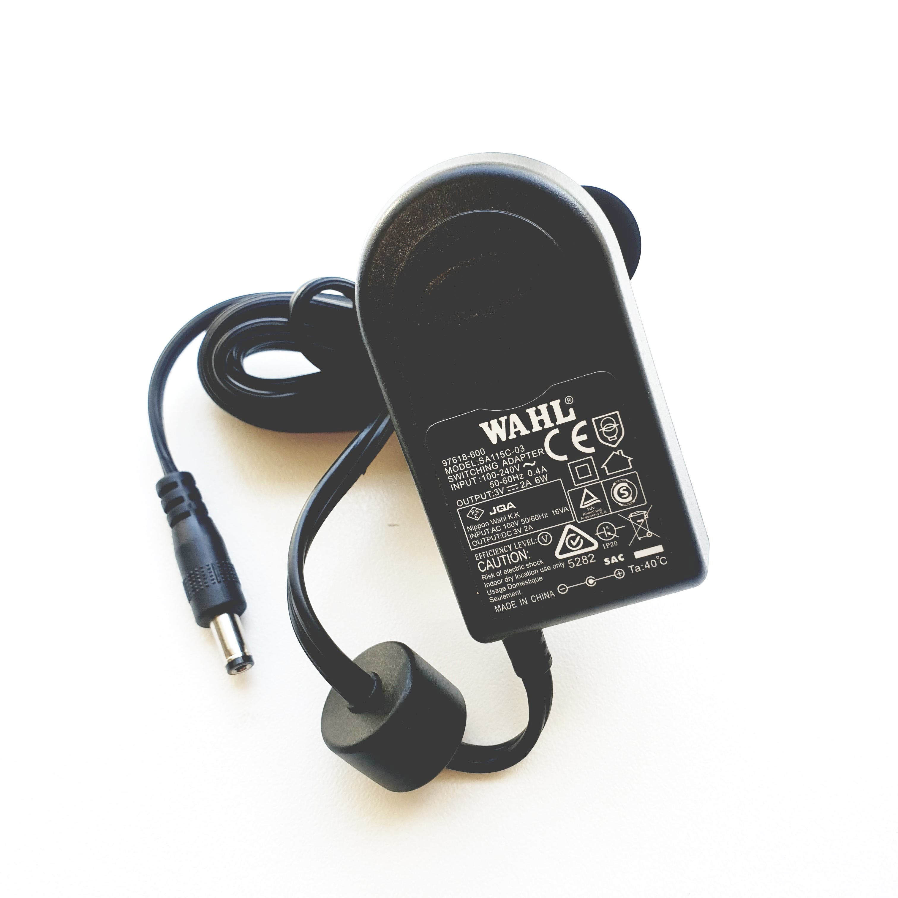 WAHL Replacement CHARGER (Model SA115C-03) 97618-600 Male for clipplers & trimmers