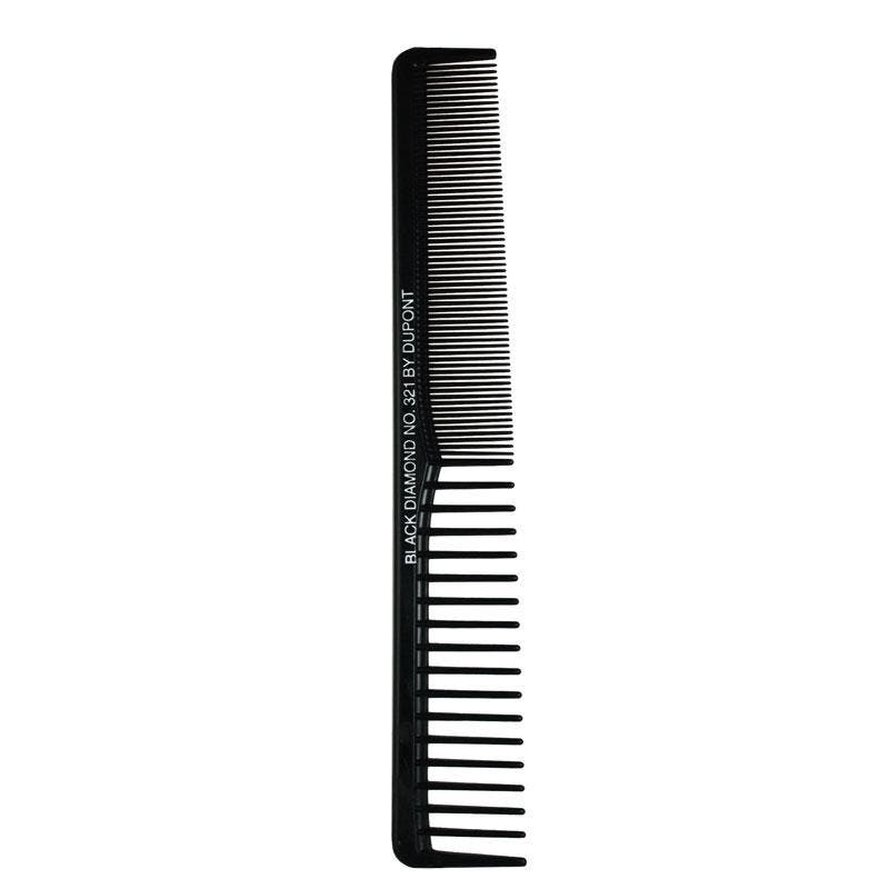 "Black Diamond #321 Vent Styler 7"" Hair Comb - Made in USA"