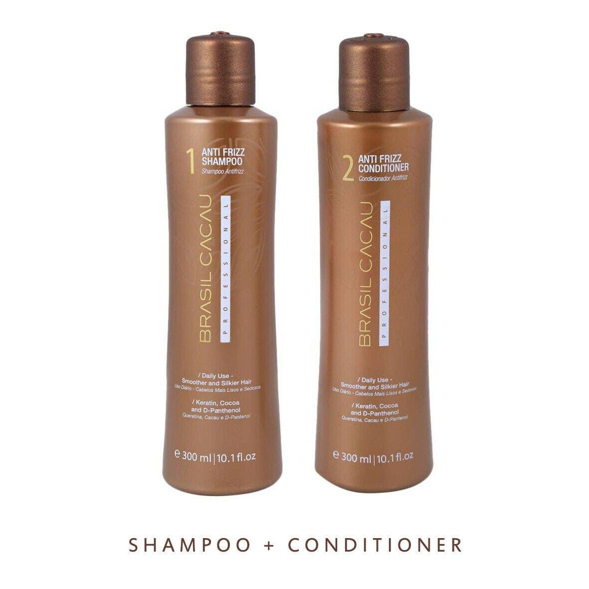 Brasil Cacau ANTI FRIZZ 300ml Shampoo & Conditioner For Damaged Hair