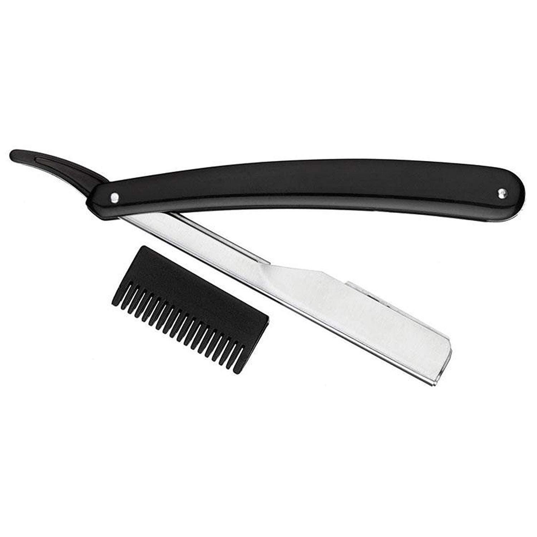 Kiepe Black Cutthroat Razor Scissors Professional  / Barber & Hair Thinning Comb