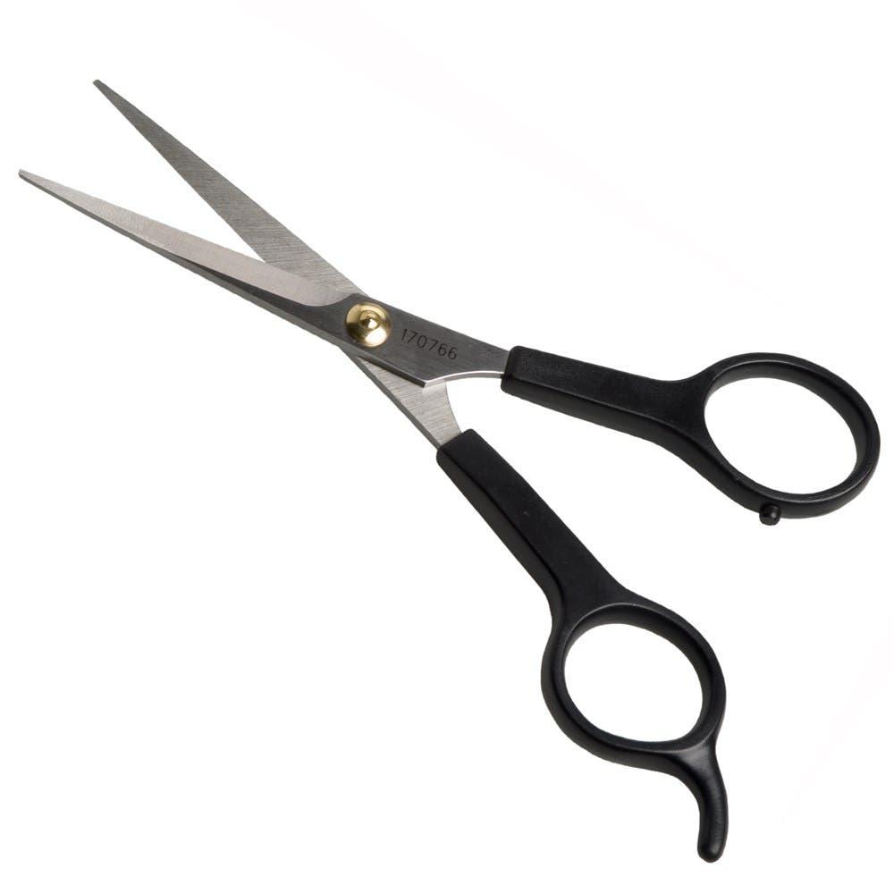 """Iceman Black Handle 5.5"""" Scissors - 170766"""