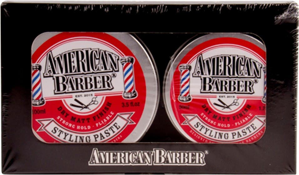 American Barber Styling Paste Duo 100ml & 50ml tins