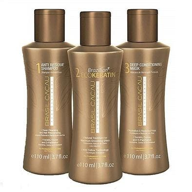 Brasil Cacau Brazilian ECOKeratin Kit Salon Professional Hair Smoother Treatment 110ml