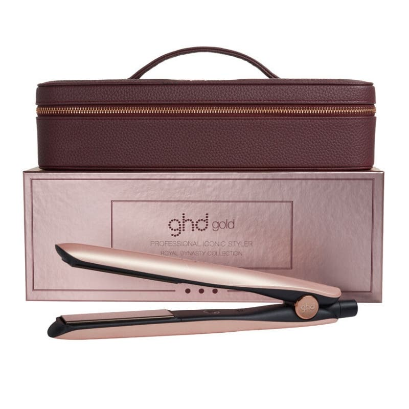 ghd Gold Rose Gold Hair Straightener Gift Set (Gold Professional Styler, Vanity Case)