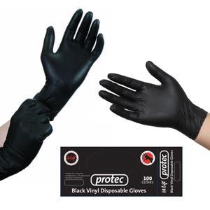 Hi Lift Protec Black Vinyl Disposable Gloves (100 pcs)