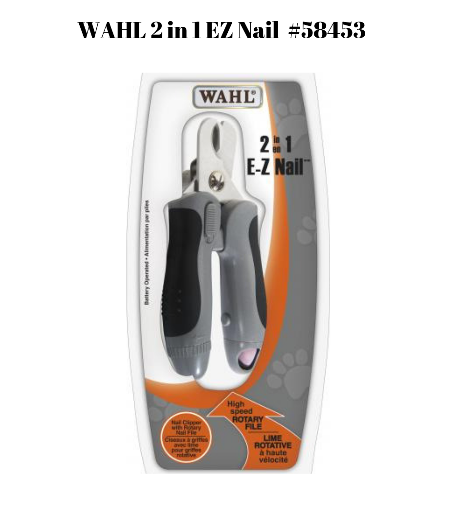 WAHL 2 in 1 EZ Nail Clipper and Grinder #58453