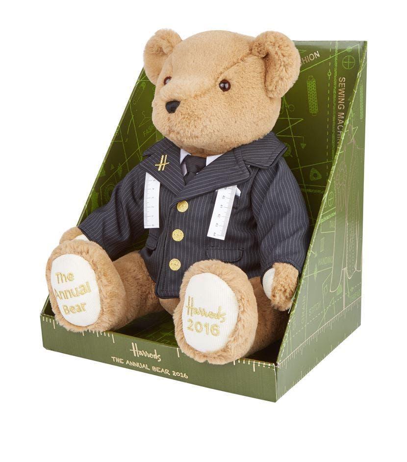 Harrods 2016 Annual Edition Collectable Teddy Bear THE TAILOR BEAR BoxedNew