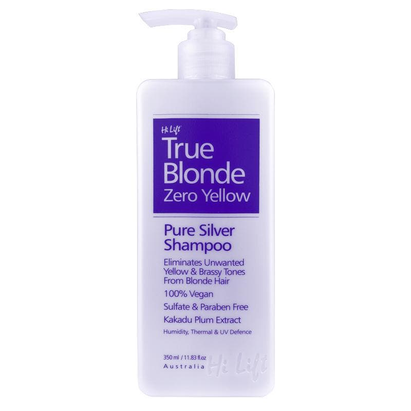 Hi Lift True Blonde Zero Yellow 100% Vegan Hair Shampoo 350ml - Made In Australia