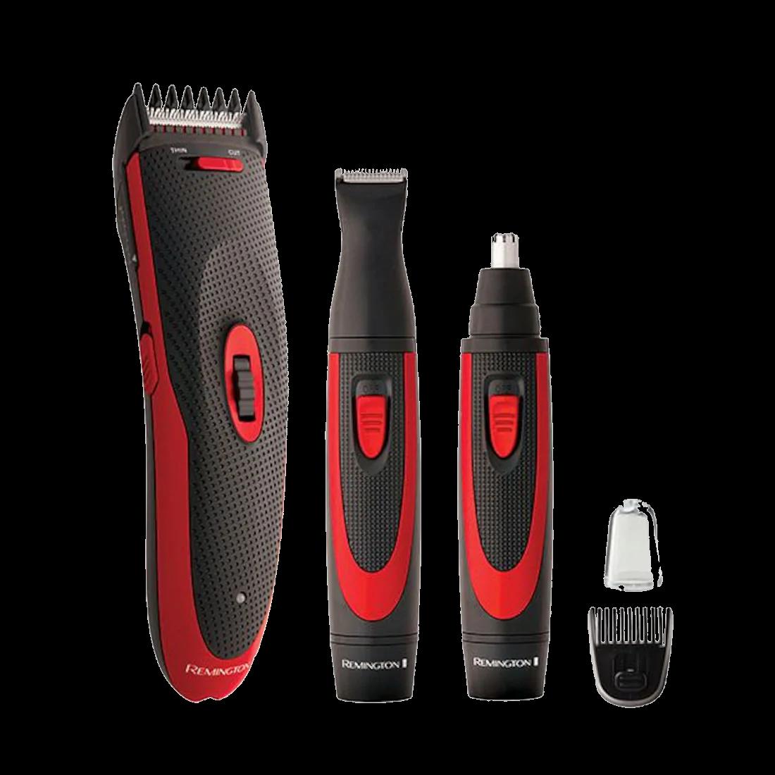 Remington Power Pro Kit: Cordless Hair Clipper, Trimmer, Nose & Ear Trimmer - HC9000AU