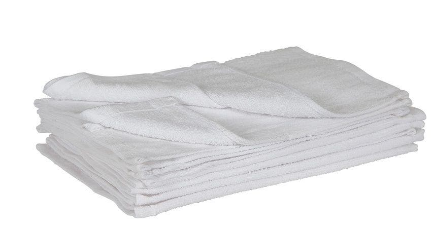 10 InMood Thick White 100% Cotton Hand Towels