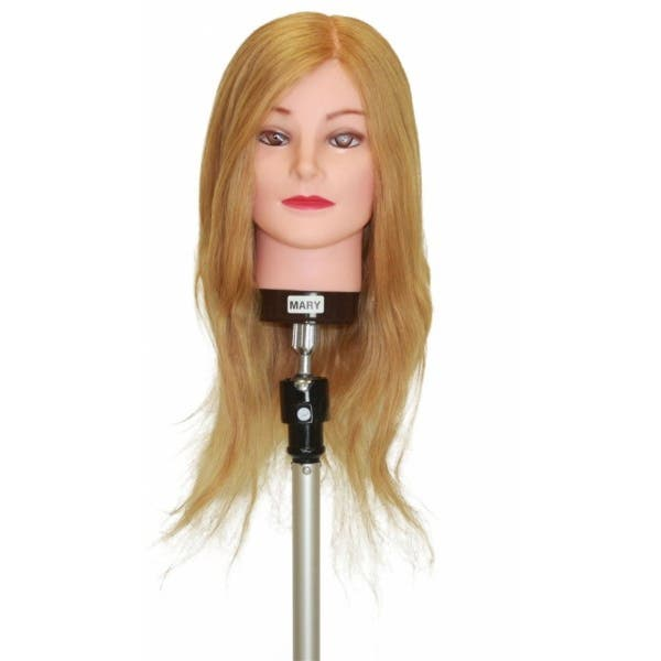 Professional Mannequin Head - MARY - 100% Blonde Long Human Hair