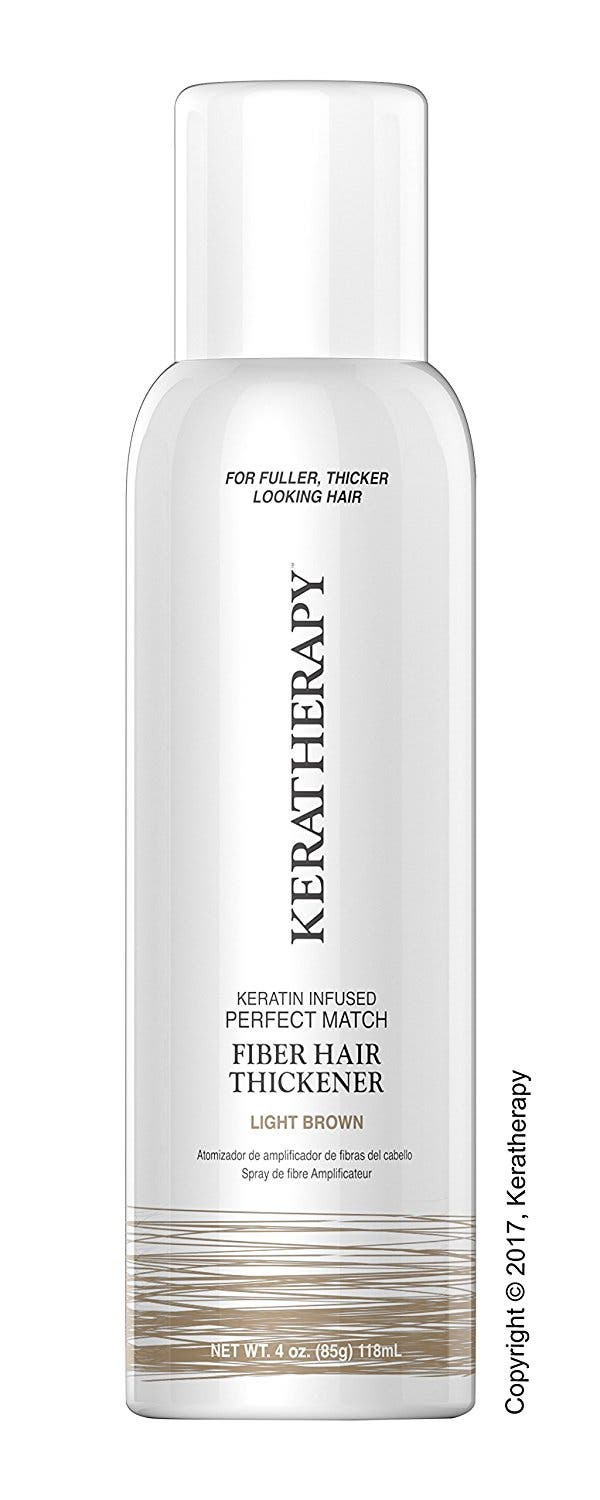 Keratherapy Light Brown Fibre Hair Thickening Spray / Hair Thickener 151ml