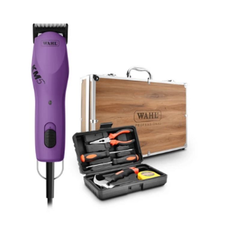Wahl KM5 Dog / Pet Clipper with Wooden Case and Tool Kit
