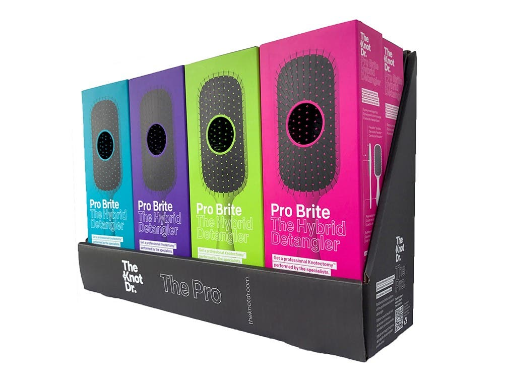 THE KNOT DR - Pro Brite Detangling Brush * Choose colour