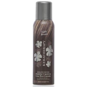 Keratherapy Keratin Infused Root Concealer Perfect Match Gray Hair Cover - Light Brown