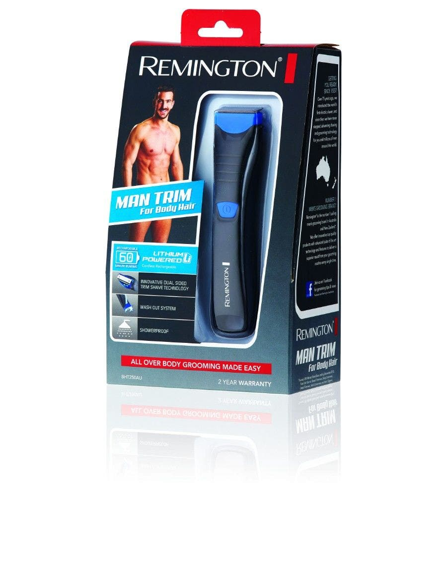 Remington Man Trim Body Hair Trimmer - Lithium Rechargeable Waterproof BHT250AU