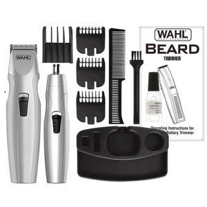 Wahl Mustache & Beard Battery Trimmer  Bonus Nose & Ear Trimmer 05606-312