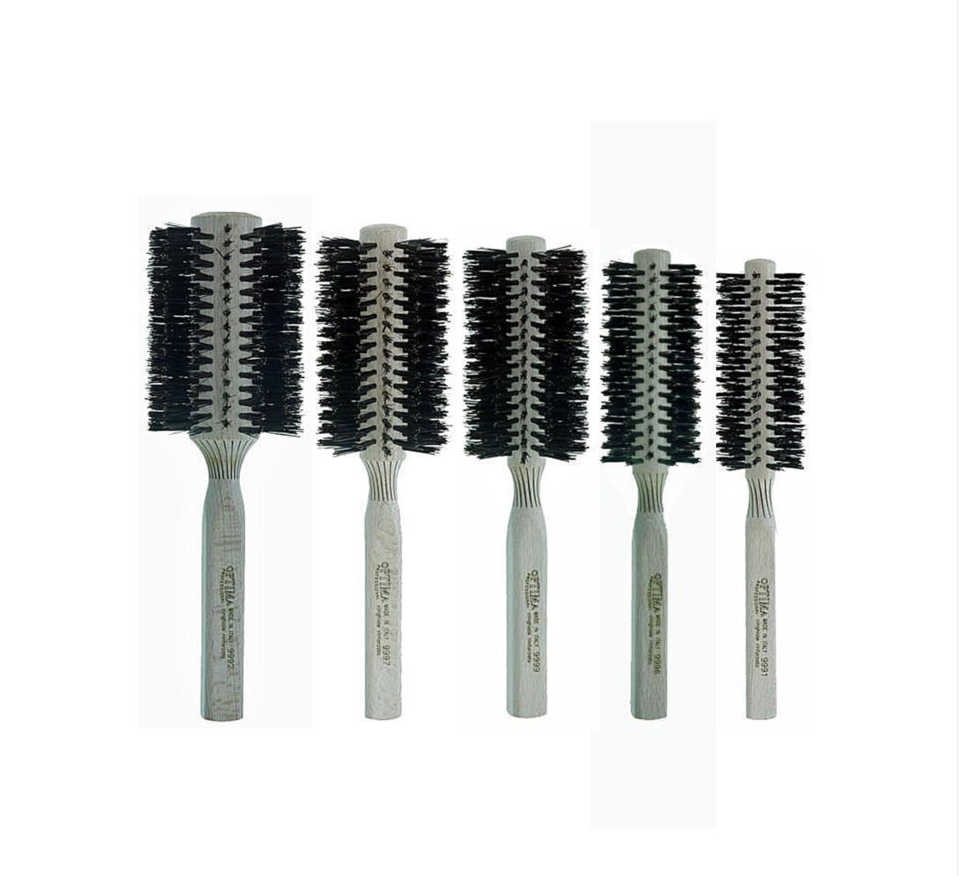 OPTIMA Professional Round Reinforced Boar Bristle Brush - Choose SIze