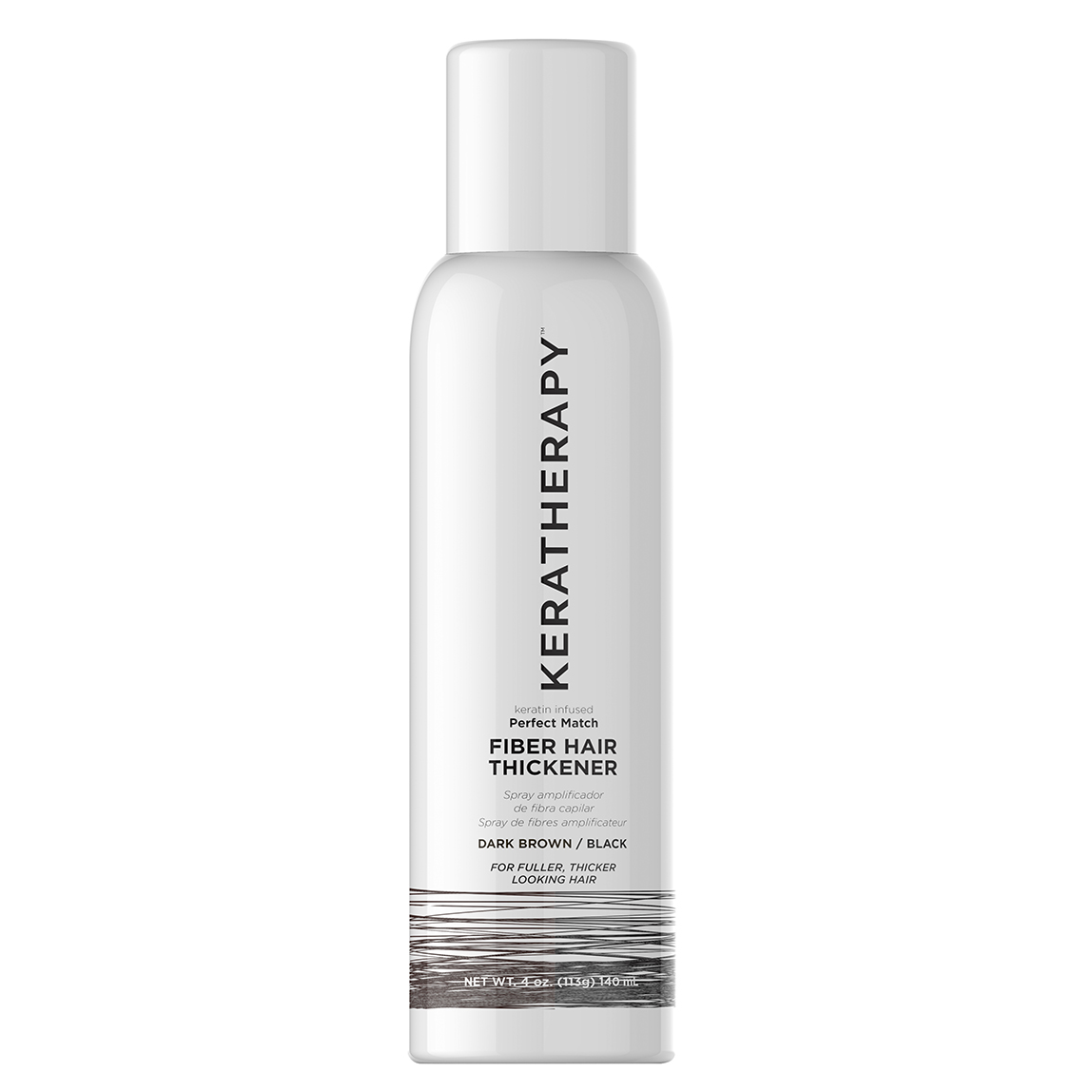 Keratherapy Dark brown/Black Fibre Hair Thickening Spray / Hair Thickener 140ml