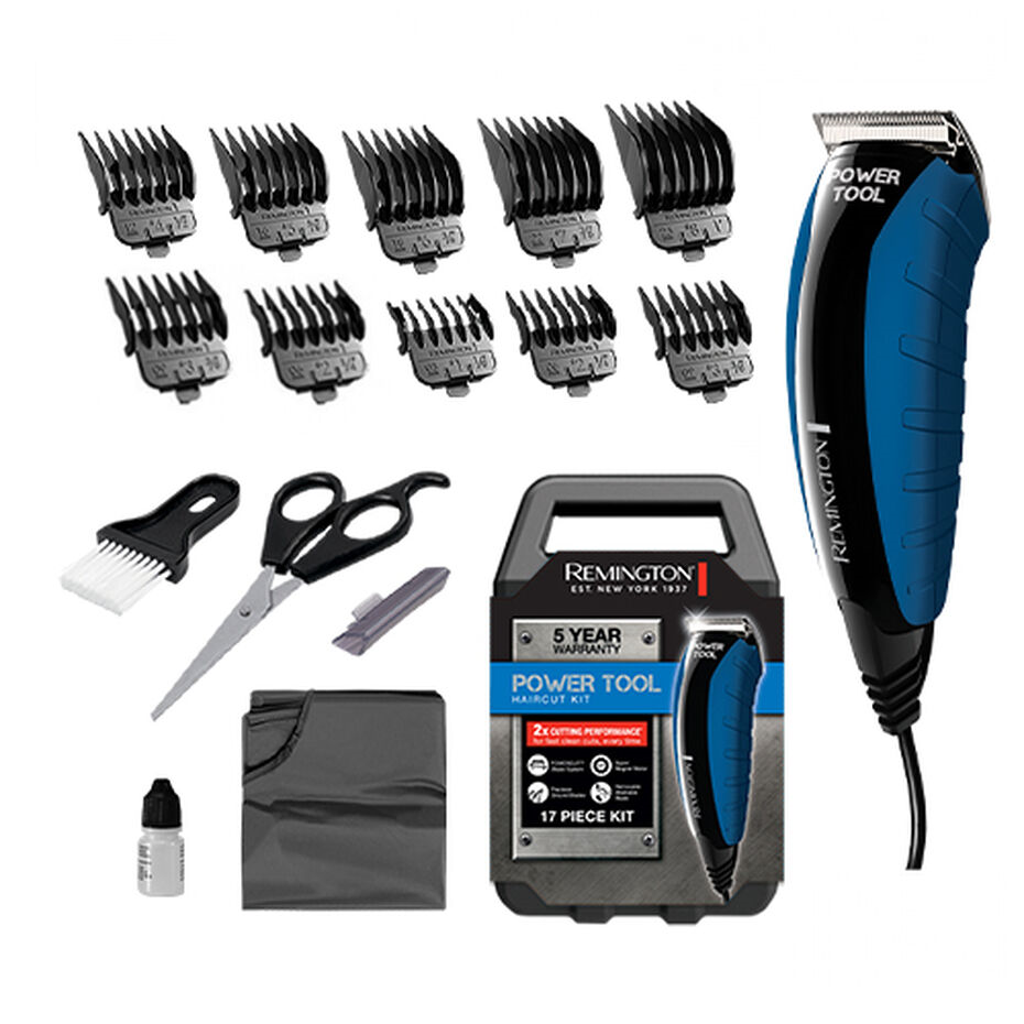 Remington Power Tool Haircut Clipper Kit 17 Piece - HC5851AU