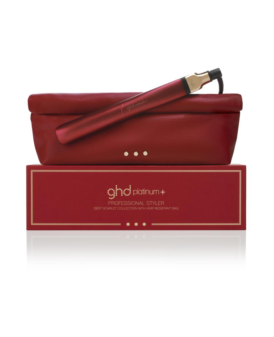 ghd Platinum+ Deep Scarlet Hair Styler with Bag