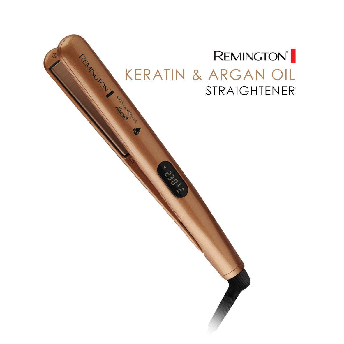 Remington Hair Straightener Nourish Styler Keratin & Argan Oil Infused S7505AU