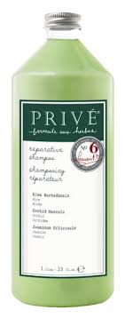 Prive Reparative Shampoo for damaged & chemically treated hair. 1 Liter