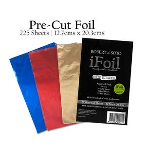 Robert de Soto Pre-cut iFoil Assorted Colours 225 Sheets 127mm x 203mm