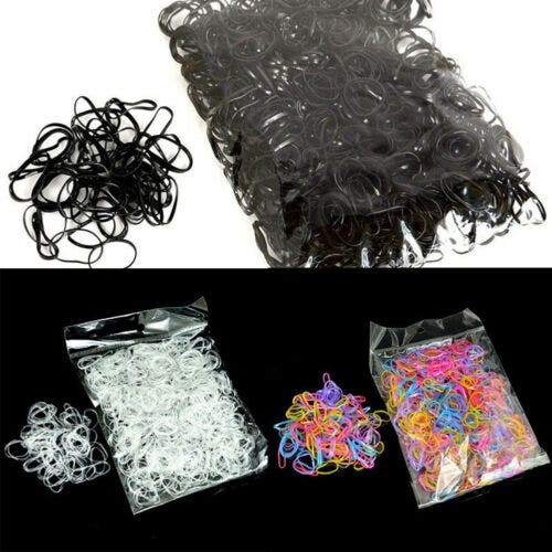 Women Girl Small Elastic Rubber Band Ponytail Holder Hair Ties Rope 1000 pcs * Choose Colour