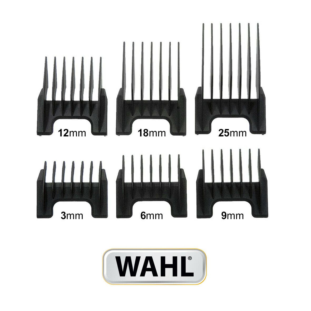 Wahl Plastic Guides Attachments Combs for Wahl Rex / Super Groom / Bravura / Arco / Pro Lithium