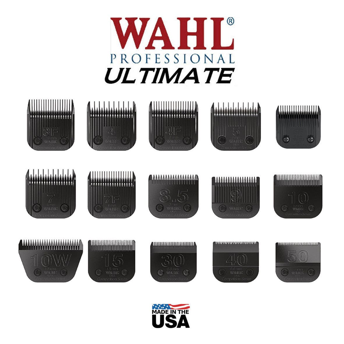 Wahl ULTIMATE PET Competition Clipper Blade Set Fits KMSS KM2 KM5 KM10