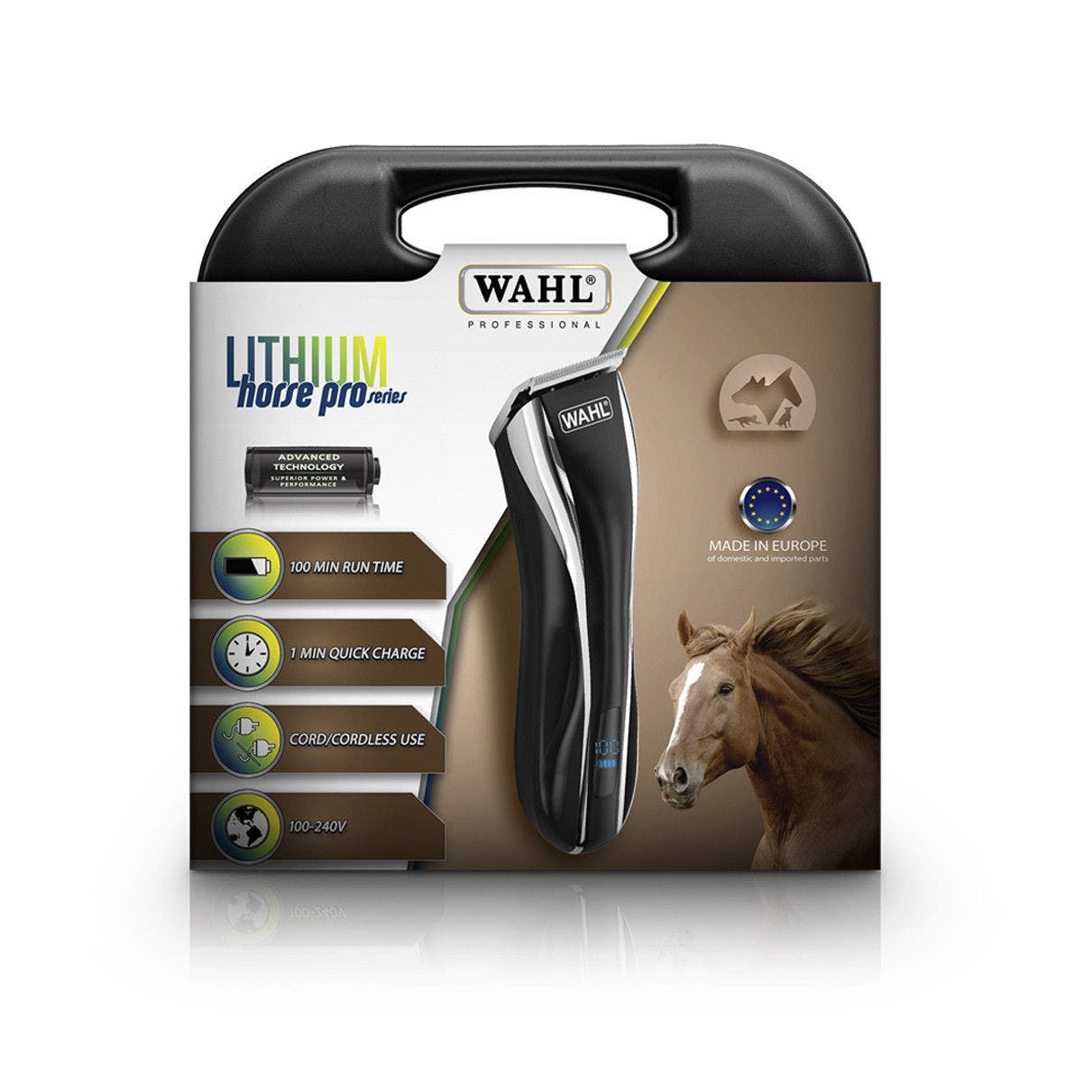 WAHL Lithium HORSE Pro Series Animal Grooming Clipper Cord/Cordless 1911-H