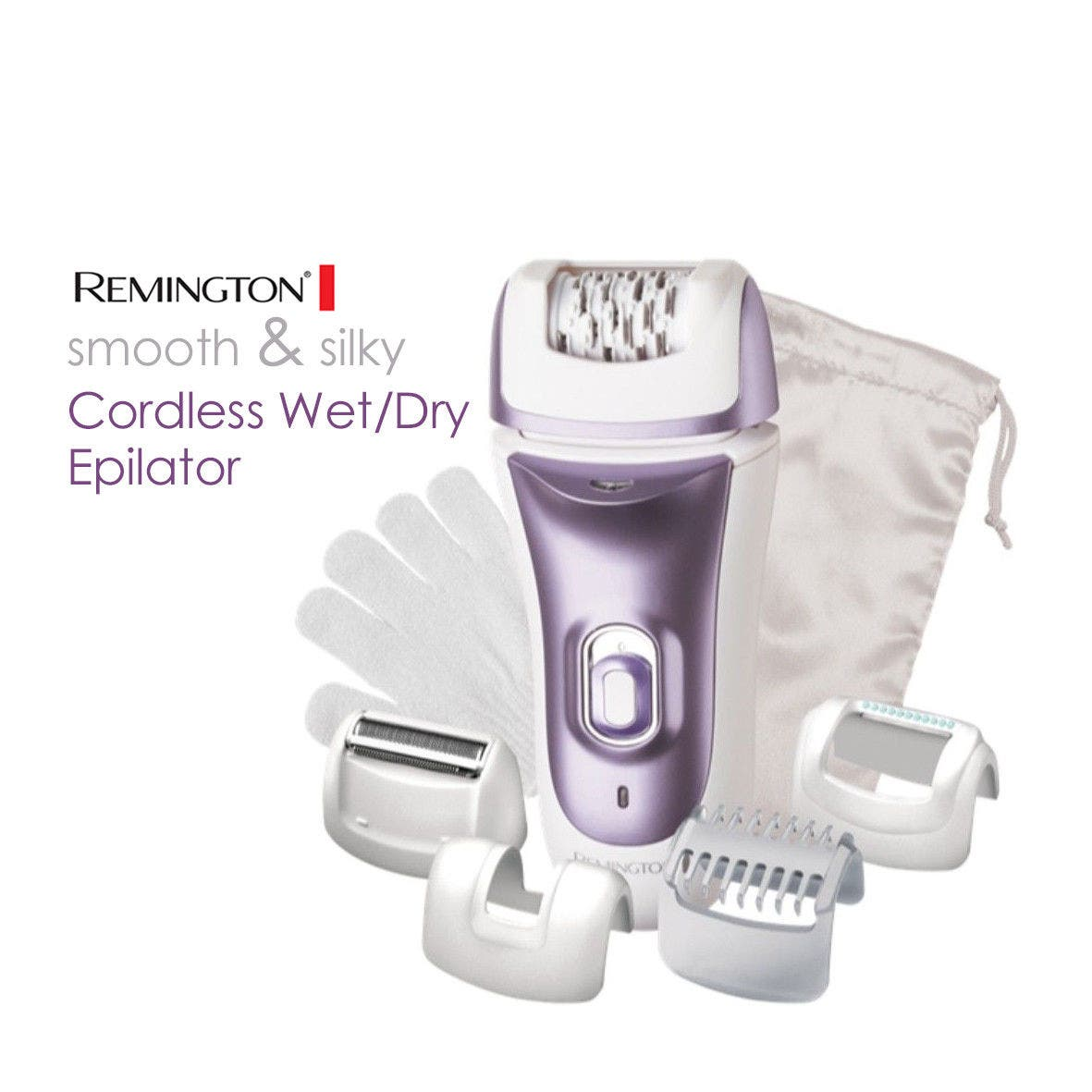 Remington Smooth & Silky - Cordless WET/DRY WOMEN Epilator Kit 2 SPEEDS - EP7031AU