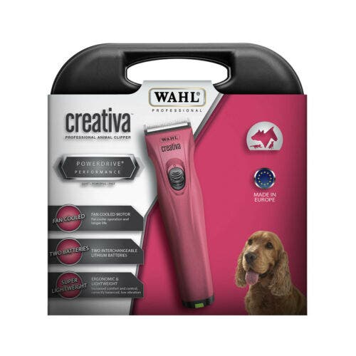 Wahl Creativa Dog / Pet Clipper x 2 Removable Lithium Ion Batteries