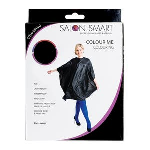 Salon Smart Colour Me Colouring Hairdressing Cape - Black