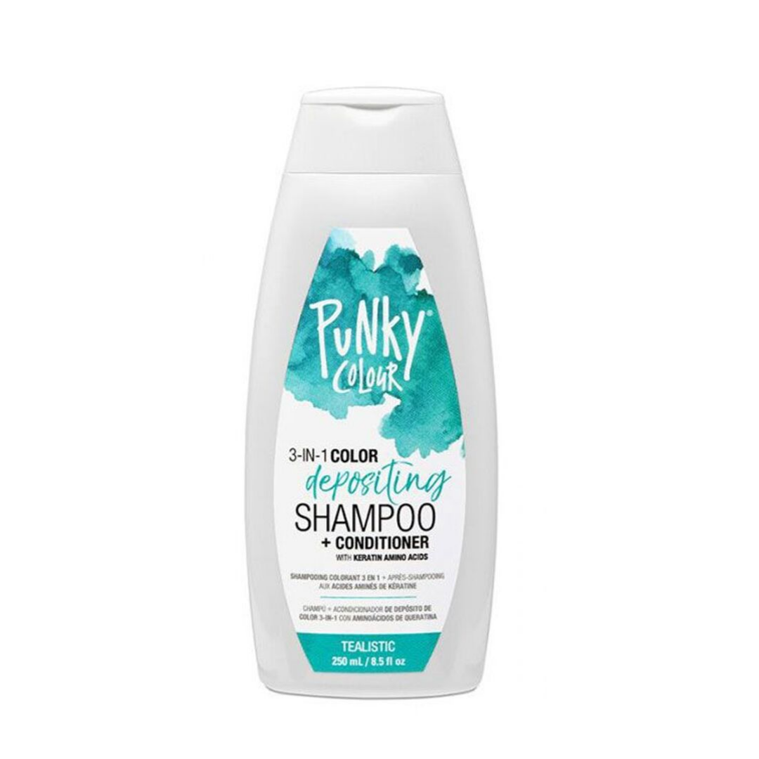 Punky Colour 3-in-1 Color Depositing Shampoo + Conditioner - Tealistic